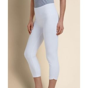 Soft Surroundings Slimsations Crop Ruched Leggings